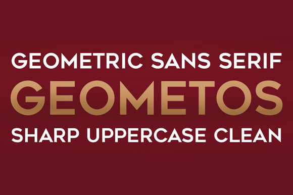 Print on Demand: Geometos Sans Serif Font By Deepak Dogra