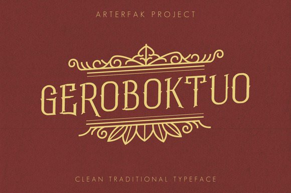 Print on Demand: Geroboktuo Serif Font By Arterfak Project
