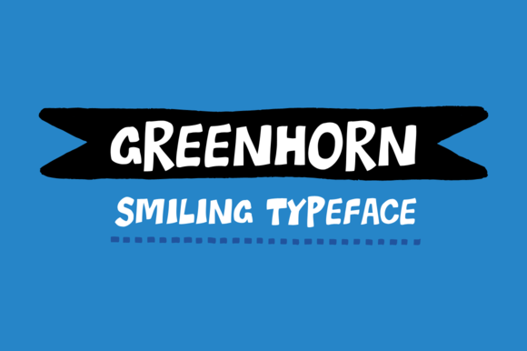 Print on Demand: Greenhorn Display Font By Juraj Chrastina - Image 1