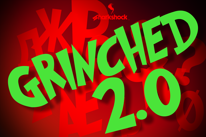 Grinched 2.0 Display Font By Sharkshock