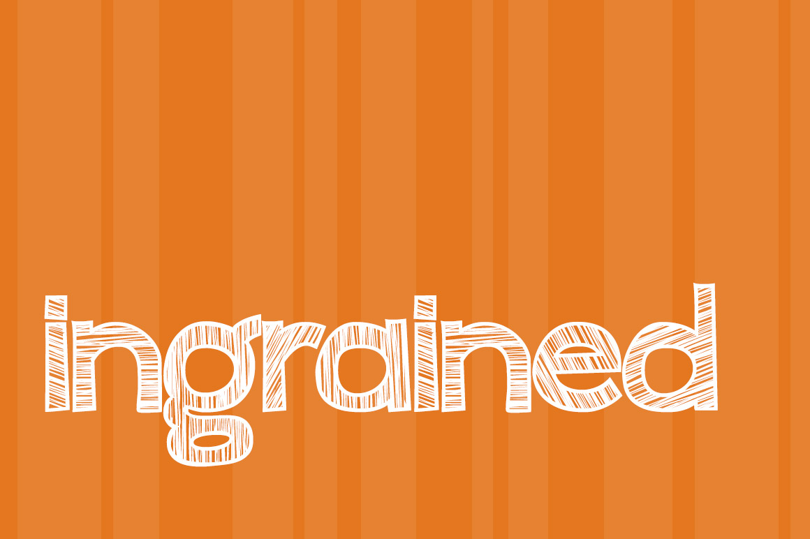 Print on Demand: Ingrained Display Font By brittneymurphydesign