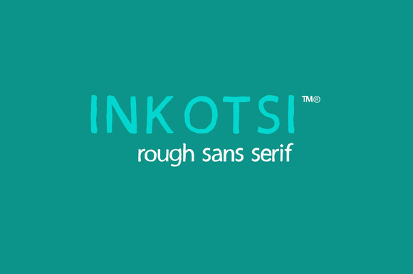 Print on Demand: Inkotsi Sans Serif Font By Incools Design Studio