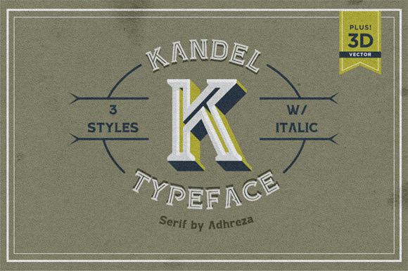Print on Demand: Kandel Serif Font By Adhreza