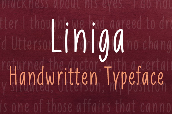 Print on Demand: Liniga Script & Handwritten Font By Deepak Dogra