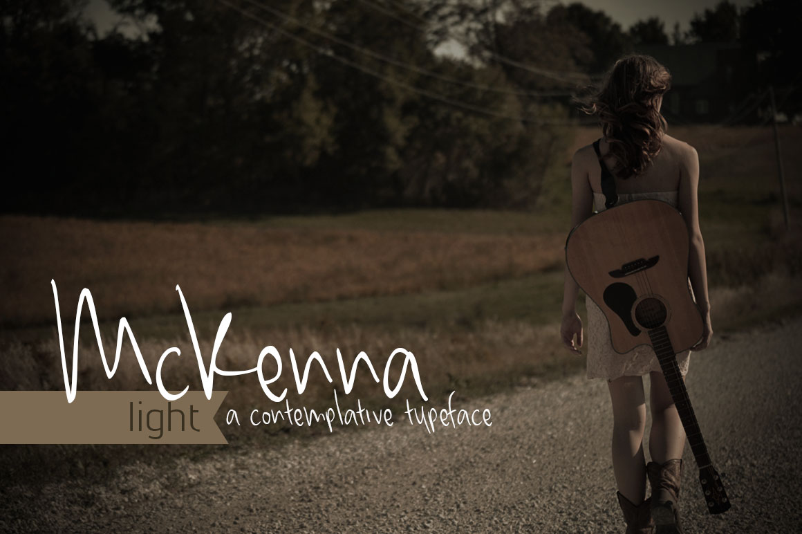 Print on Demand: McKenna Light Script & Handwritten Font By brittneymurphydesign