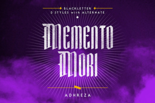 Mementomori Font by Adhreza foundry in font bundle subscription service by Creative Fabrica 1