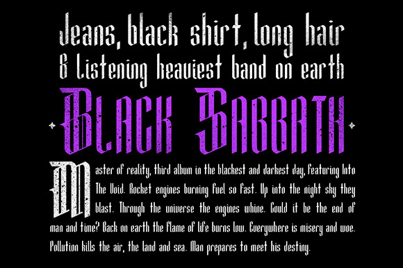 Print on Demand: Mementomori Blackletter Font By Adhreza - Image 3