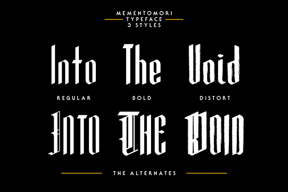 Print on Demand: Mementomori Blackletter Font By Adhreza - Image 4