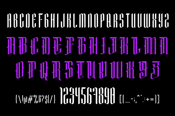 Print on Demand: Mementomori Blackletter Font By Adhreza - Image 5