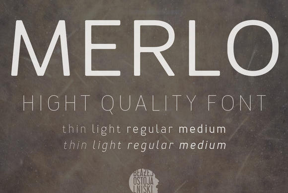 Print on Demand: Merlo Serif Font By TypoForge