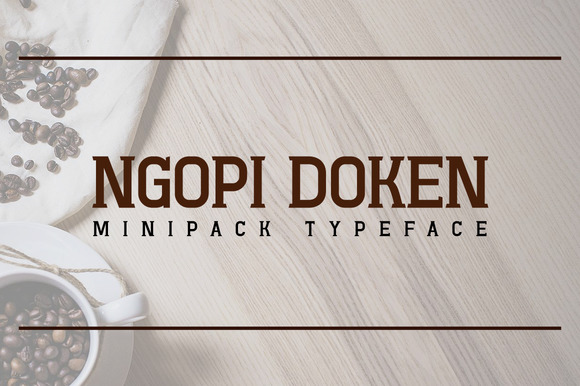 Print on Demand: Ngopi Doken Slab Serif Font By Arterfak Project