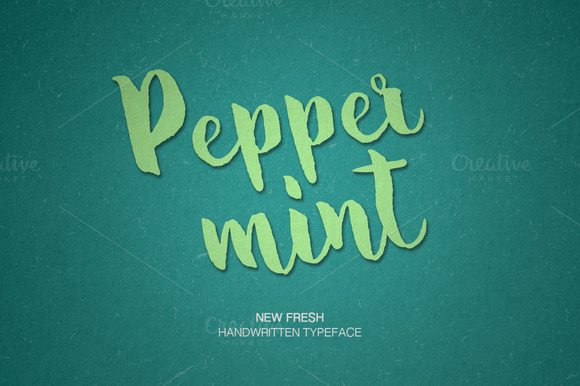 Print on Demand: Pepper Mint Script & Handwritten Font By Dmitrii Chirkov