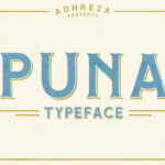Puna Font by Adhreza foundry in font bundle subscription service by Creative Fabrica 1