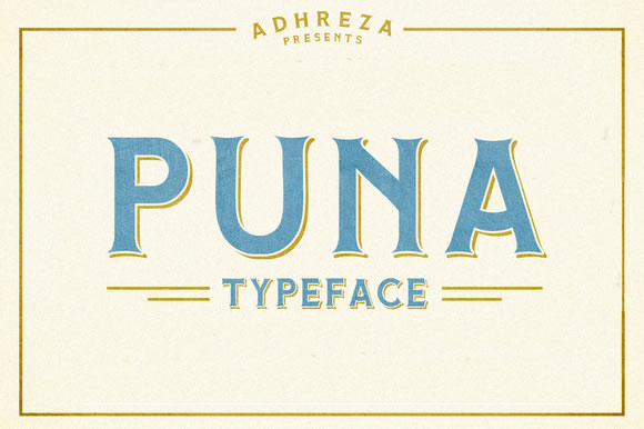 Print on Demand: Puna Display Font By Adhreza - Image 1