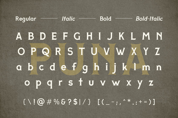 Print on Demand: Puna Display Font By Adhreza - Image 3