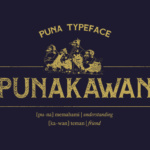 Puna Font by Adhreza foundry in font bundle subscription service by Creative Fabrica 5