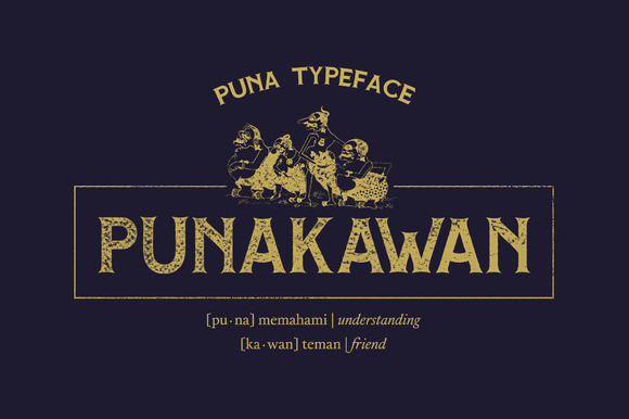 Print on Demand: Puna Display Font By Adhreza - Image 5