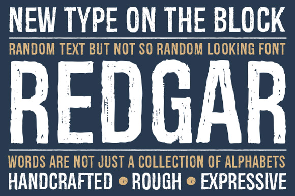 Print on Demand: Redgar Display Font By Graphite