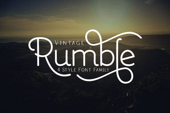 Print on Demand: Rumble Family Script & Handwritten Font By Ijem RockArt