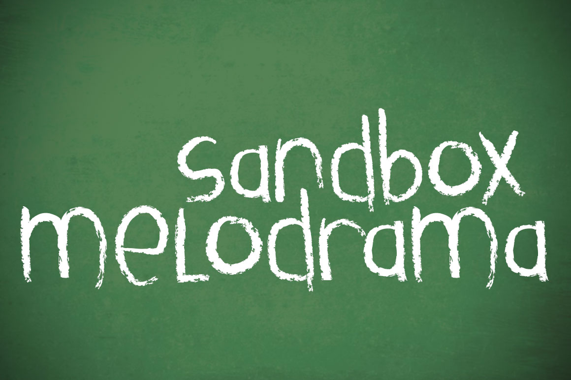 Print on Demand: Sandbox Melodrama Display Font By brittneymurphydesign - Image 1