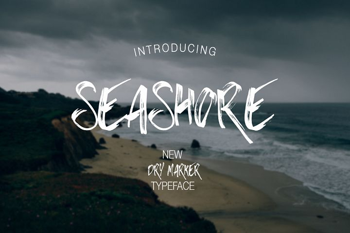 Print on Demand: Seashore Display Font By Dmitrii Chirkov