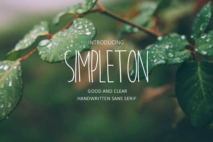 Print on Demand: Simpleton Sans Serif Font By Dmitrii Chirkov - Image 1