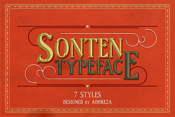 Print on Demand: Sonten Serif Font By Adhreza