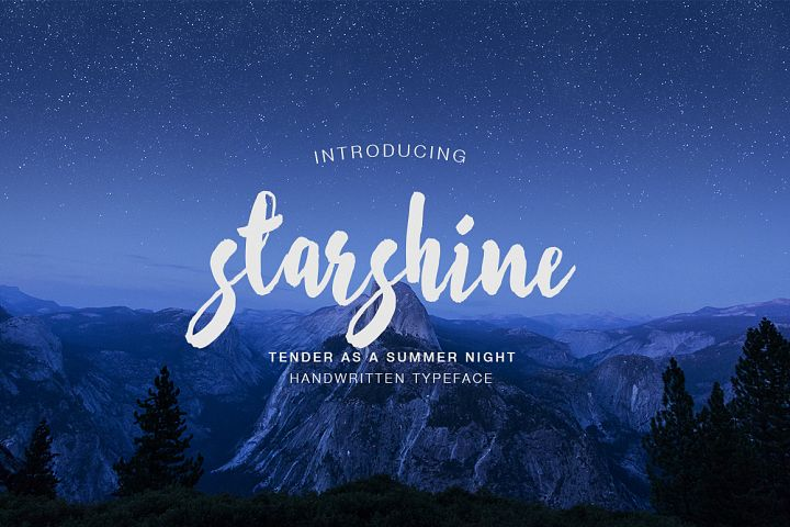Print on Demand: Starshine Script & Handwritten Font By Dmitrii Chirkov