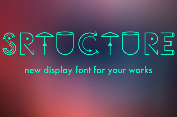 Print on Demand: Structure Display Font By Etewut