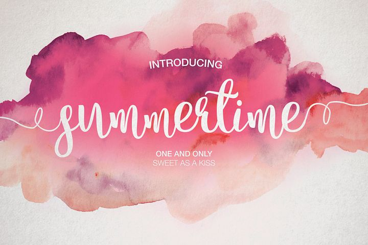 Print on Demand: Summertime Script & Handwritten Font By Dmitrii Chirkov