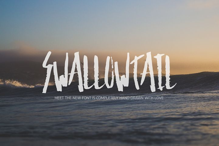 Print on Demand: Swallow Tail Script & Handwritten Font By Dmitrii Chirkov