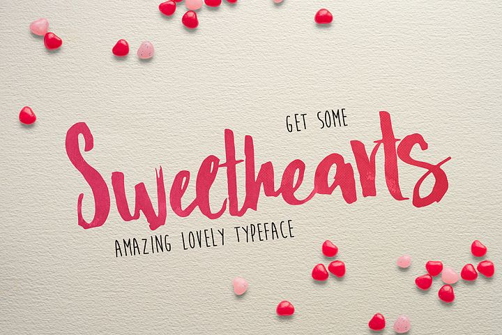 Print on Demand: Sweethearts Script & Handwritten Font By Dmitrii Chirkov
