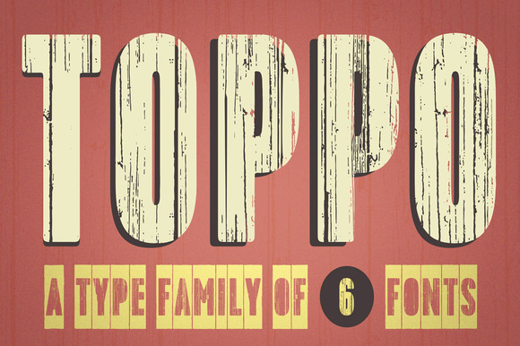 Print on Demand: Toppo Display Font By TypoForge