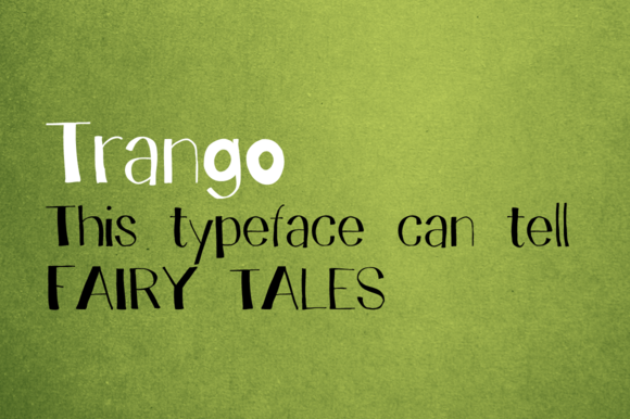 Print on Demand: Trango Display Font By Juraj Chrastina