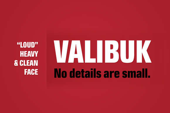 Print on Demand: Valibuk Sans Serif Font By Juraj Chrastina