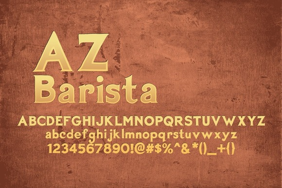 Print on Demand: AZ Barista Serif Font By Artistofdesign