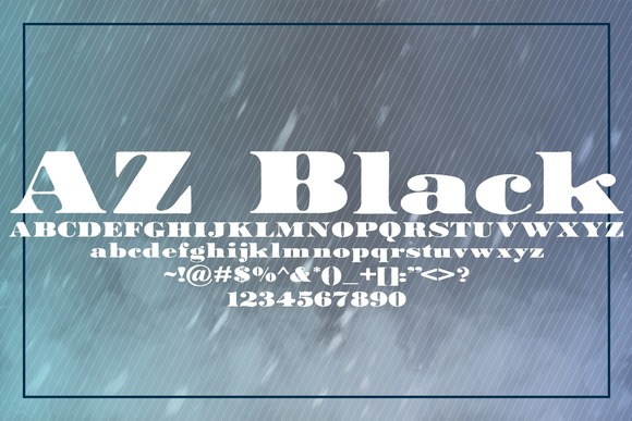 Print on Demand: AZ Black Serif Font By Artistofdesign