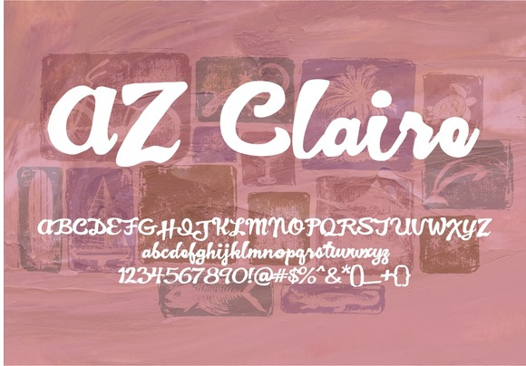 Print on Demand: AZ Claire Script & Handwritten Font By Artistofdesign