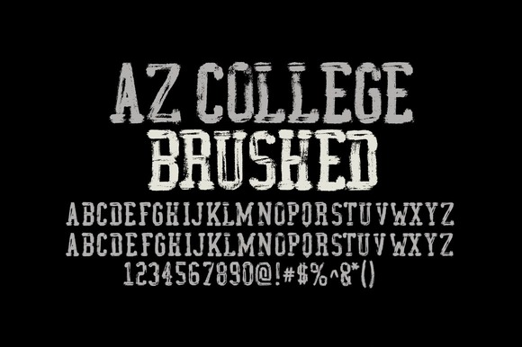 Print on Demand: AZ College Brushed Serif Font By Artistofdesign