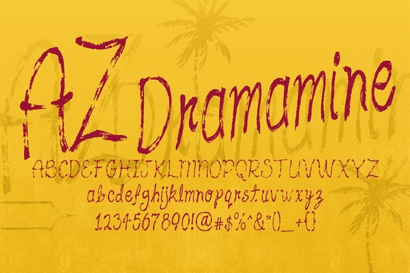 Print on Demand: AZ Dramamine Script & Handwritten Font By Artistofdesign