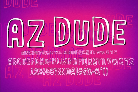 Print on Demand: AZ Dude Display Font By Artistofdesign