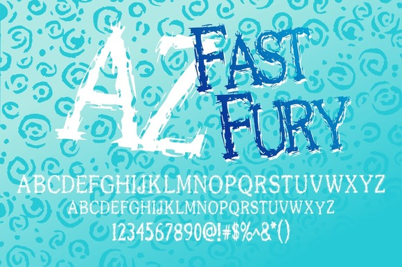 Print on Demand: AZ Fast Fury Display Font By Artistofdesign