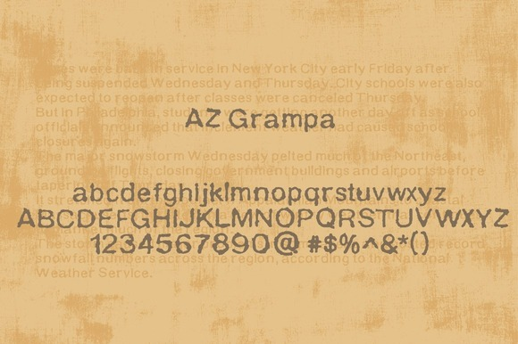 Print on Demand: AZ Grampa Sans Serif Font By Artistofdesign