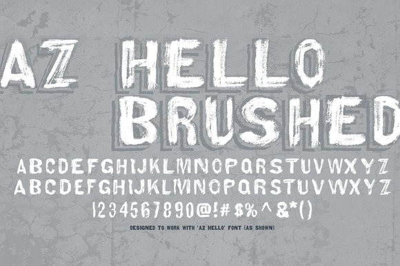 Print on Demand: AZ Hello Brushed Sans Serif Font By Artistofdesign