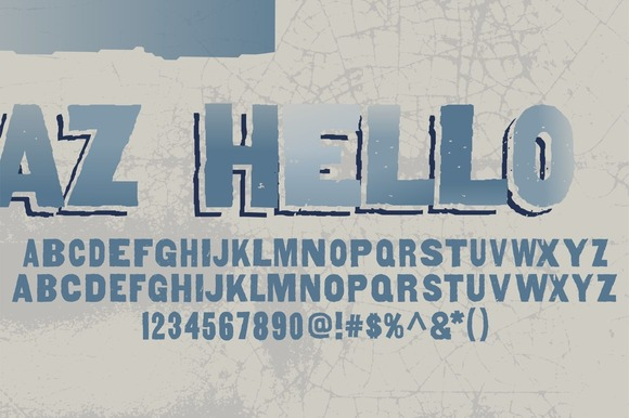 Print on Demand: AZ Hello Sans Serif Font By Artistofdesign