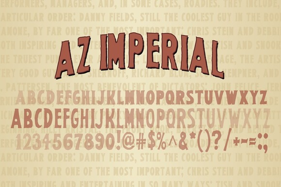 Print on Demand: AZ Imperial Serif Font By Artistofdesign