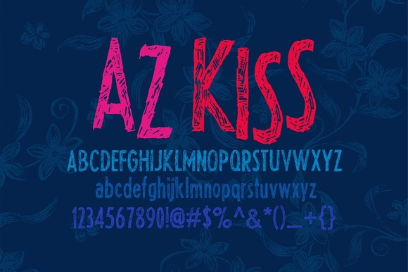 Print on Demand: AZ Kiss Sans Serif Font By Artistofdesign