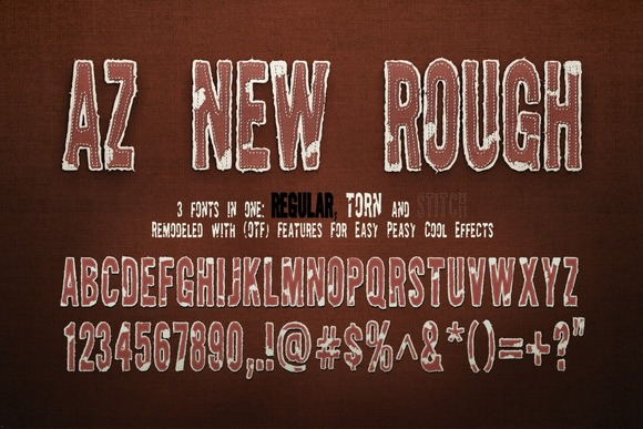 Print on Demand: AZ New Rough Sans Serif Schriftarten von Artistofdesign