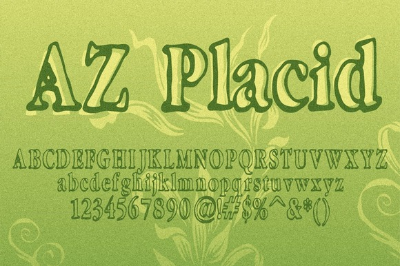 Print on Demand: AZ Placid Serif Font By Artistofdesign