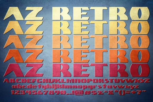 Print on Demand: AZ Retro Sans Serif Font By Artistofdesign
